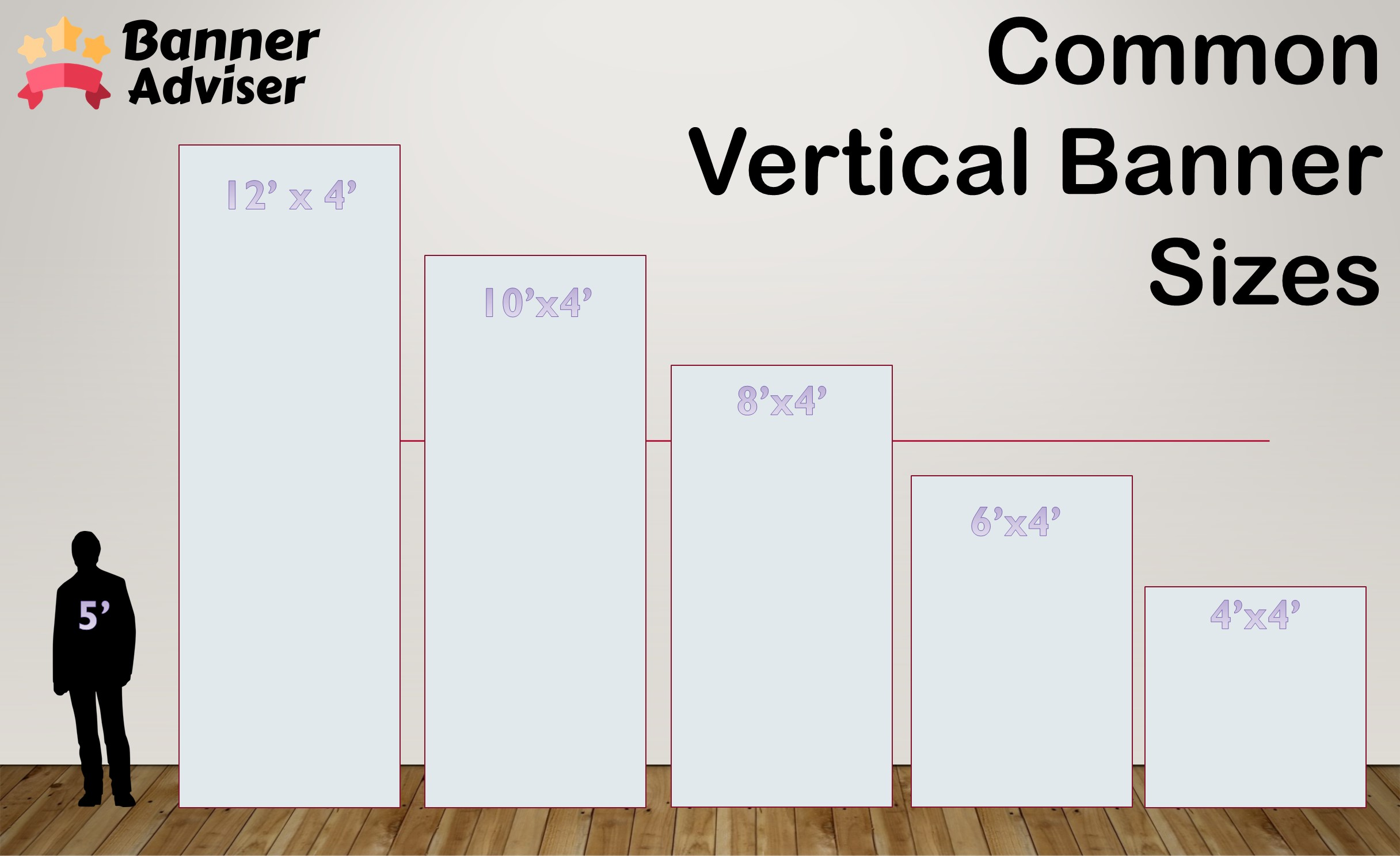 common vinyl horizontal banner sizes for businesses advertising