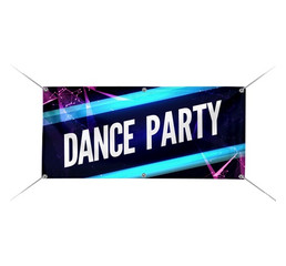 fabric dance party banner