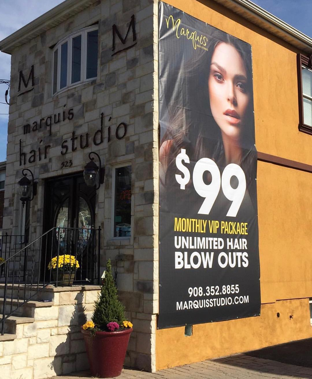 outdoor hairstylist banner inspiration