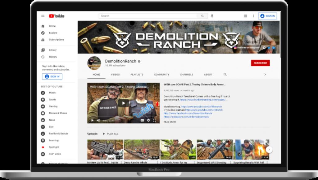 DemolitionRanch - YouTube channel art