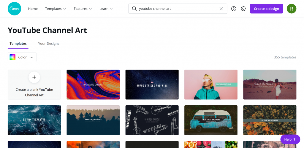 YouTube-Channel-Art With Canva